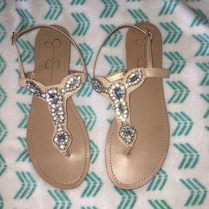 Jessica Simpson jeweled sandals